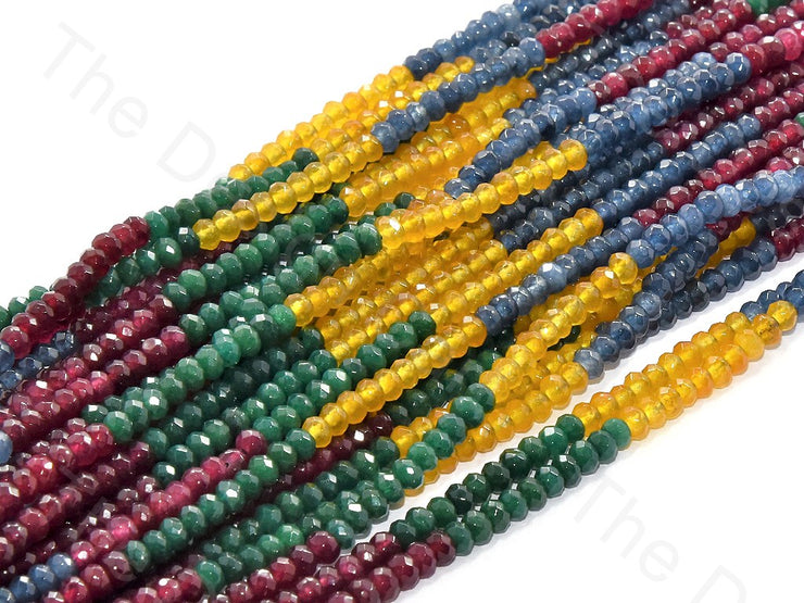 4 mm Multicolour Design 6 Rondelle Jade Quartz Stones | The Design Cart (502335176738)