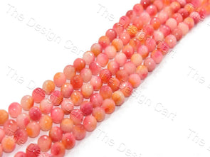 Mixed Red Jade Quartz Semi Precious Stones