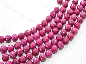 14 mm Rose Red Jade Quartz Semi Precious Stones