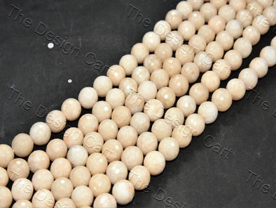 14 mm Off White Jade Quartz Semi Precious Stones