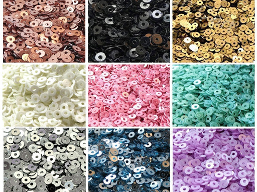 Assorted Pack Of 9 Sequins Combo 7
