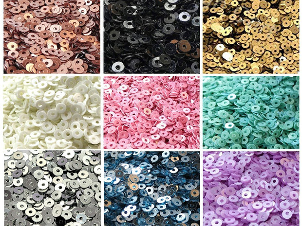 Assorted Pack Of 9 Sequins Combo 7 (1812367278114)