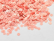 Luster Peach Round Centre Hole Sequins | The Design Cart (526666924066)