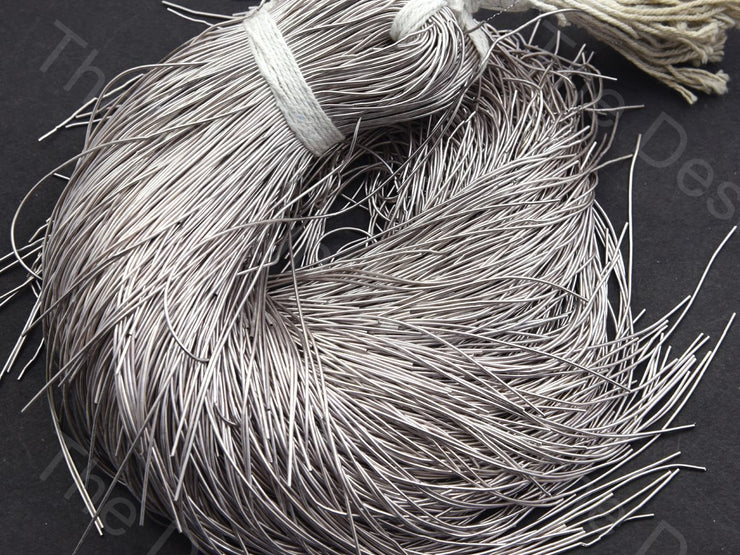 Silver Gray Dabka / French Wire - The Design Cart