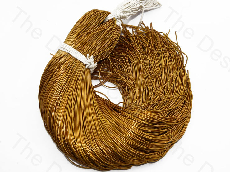 Golden Copper Dabka / French Wire - The Design Cart