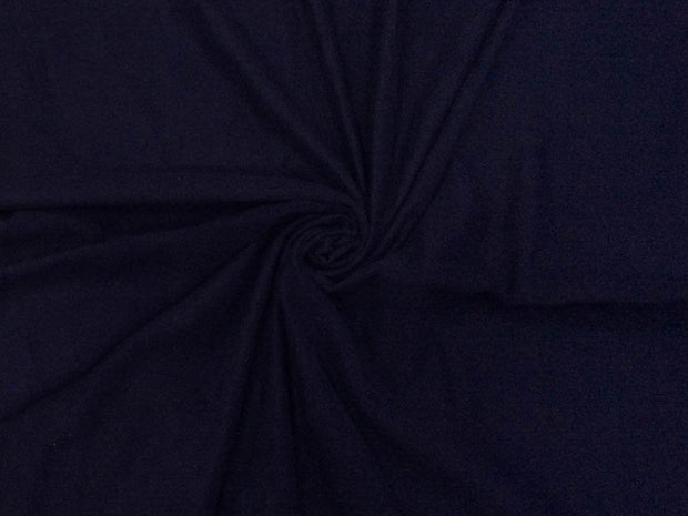Navy Blue Plain Suede Fabric
