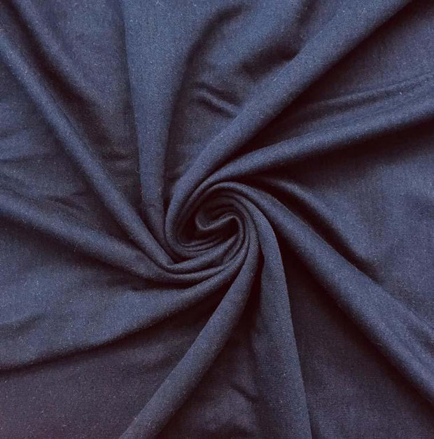 Navy Blue Solid Sinker Cotton Fabric