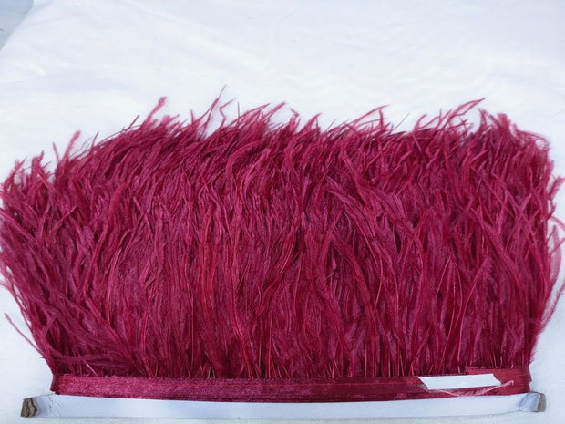 Wine Red Faux Feather Lace (4563708575813)