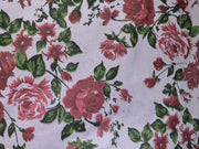Dull Purple Floral Corduroy Fabric | The Design Cart