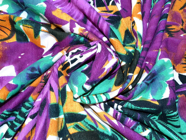 Purple All Over All Floral Corduroy Fabric | The Design Cart (1857485864994)