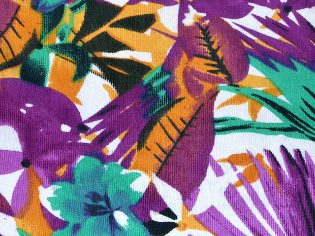 Purple All Over All Floral Corduroy Fabric | The Design Cart