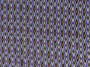 Blue Geometric Cotton Ikat Woven Fabric | The Design Cart (1872214130722)