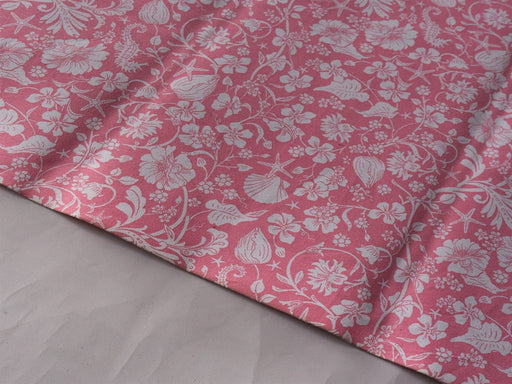Pink Floral Cotton Printed Fabric