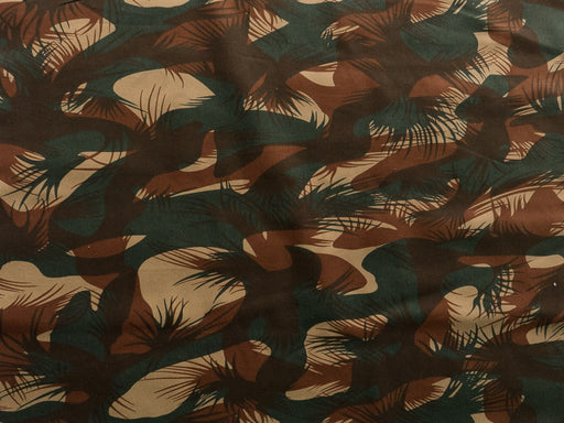 Brown Camouflage Print Pure Cotton Twill Fabric