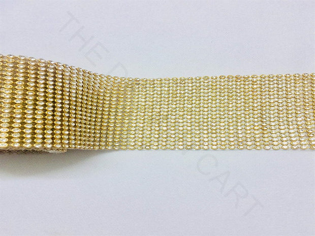 Golden Diamond Beaded Lace | The Design Cart