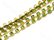 Green / Peridot Golden Cup Chain (395089215522)