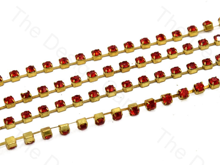 Light Red Golden Cup Chain