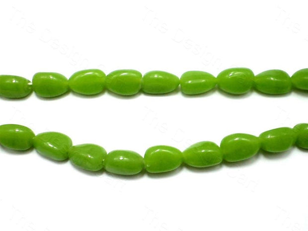 Fire Polished Green Tumble Glass Beads