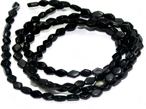 Fire Polished Black Diamond Glass Beads