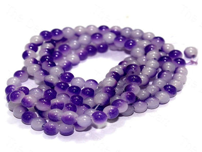 Blue Round Glass Beads