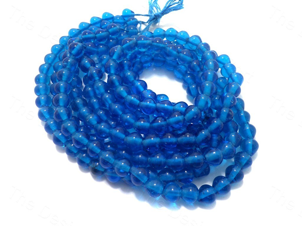 Blue Drop Glass Beads