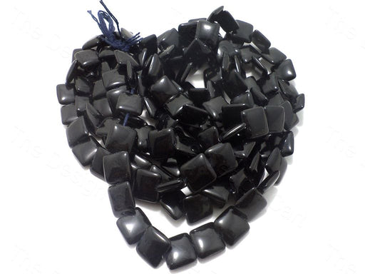 Black Square Glass Beads