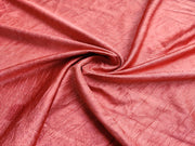 Precut Rust Red Self Textured Satin Finish Tum Tum Fabric