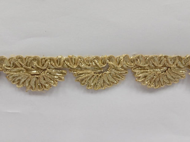 LIght Golden Gota Work Embroidered Border