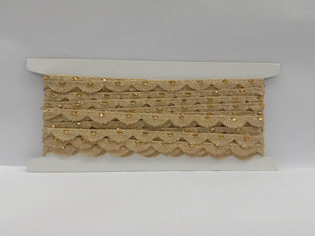 Golden Stone Work GPO Embroidered Border