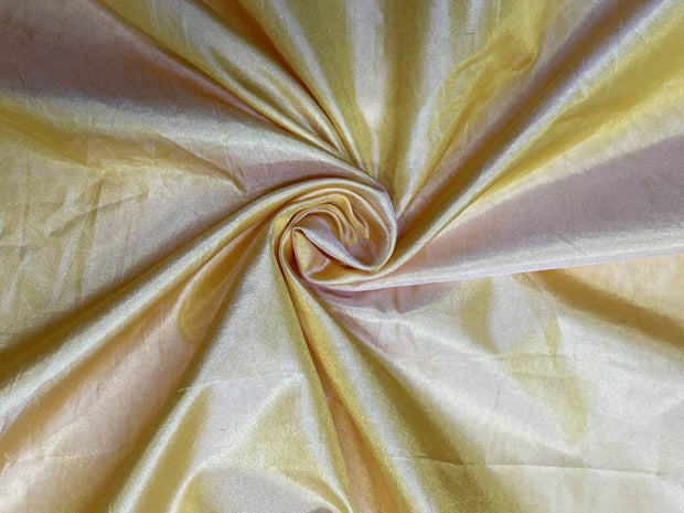 Pastel Yellow Plain Mill Dyed Poly Silk Fabric