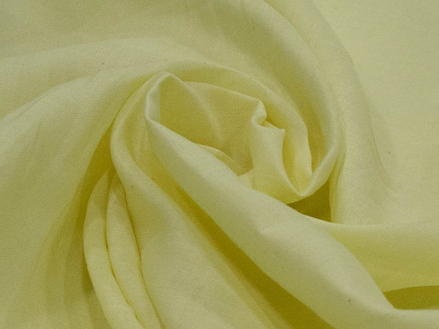 Pastel Yellow Plain Ramie Linen Fabric