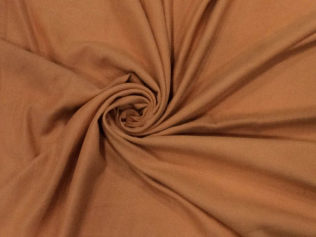 Peach Brown Plain Suede Fabric