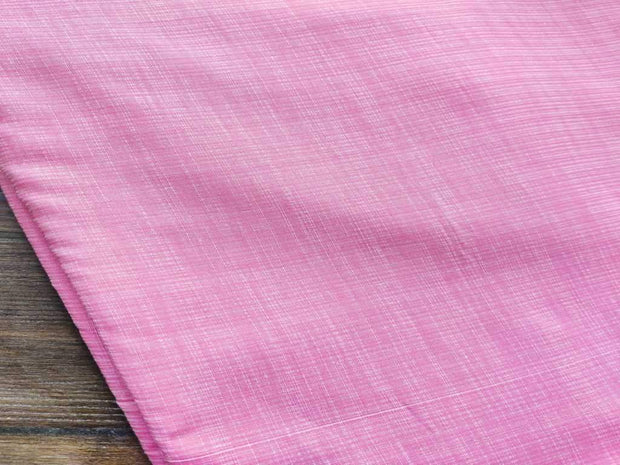 Pink Self Checks Cotton Fabric | The Design Cart