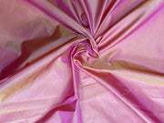 Pink Orange Dual Tone Plain Mill Dyed Poly Silk Fabric