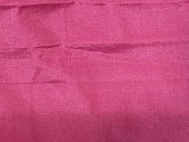 Pink Plain Mill Dyed Poly Silk Fabric