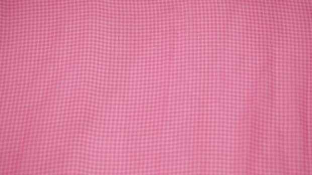 Pink Small Checks Georgette Fabric | The Design Cart