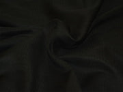 Precut 2.5 Metre Black Herringbone Textured Italian Silk Fabric