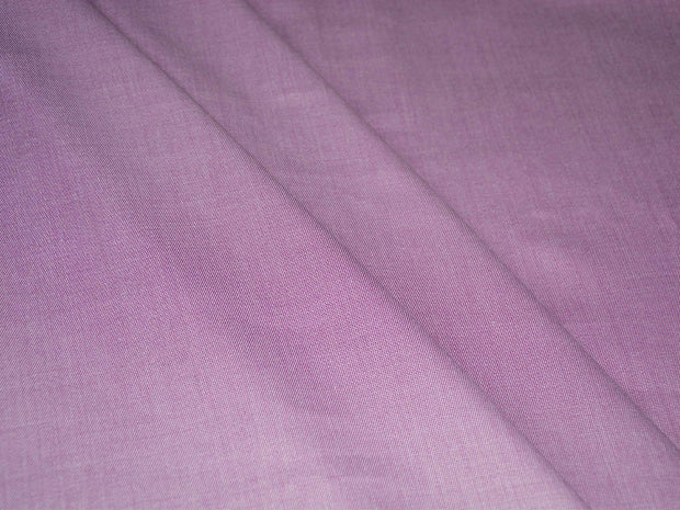 Precut 3.5 Metre Mauve Purple Plain Cotton Linen Fabric