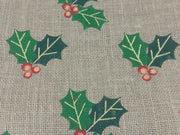 Brown Green Leaves Jute Fabric Non Laminated Threading