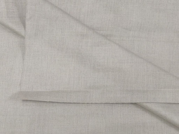Beige Plain Pure Cotton Linen Fabric