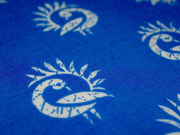 Blue Peacock Pure Cotton Fabric (4516588585029)