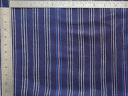 Red Blue Yarn Dyed Stripes Dobby Cotton Fabric | The Design Cart