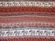 Red Multi Digital Printed Poly Georgette Fabric (4550328516677)