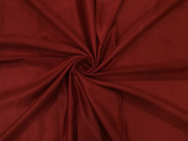 Red Plain Suede Fabric