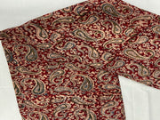 Red Paisleys Kalamkari Printed Cotton Fabric