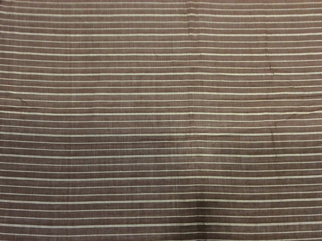 Brown Stripes Cotton Fabric