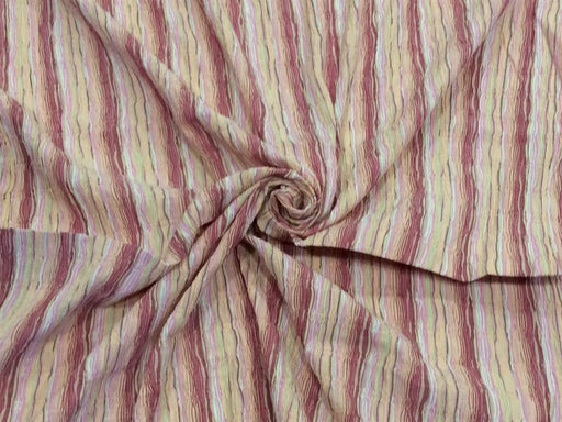 Multicolour Stripes Cotton Crepe Lycra Fabric