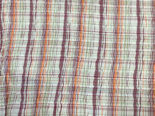 Multicolour 2 Stripes Cotton Crepe Lycra Fabric