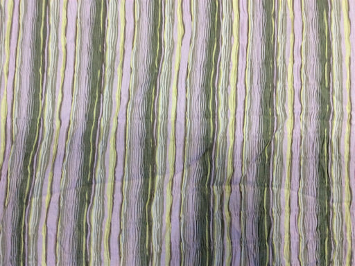 Purple Stripes Cotton Crepe Lycra Fabric