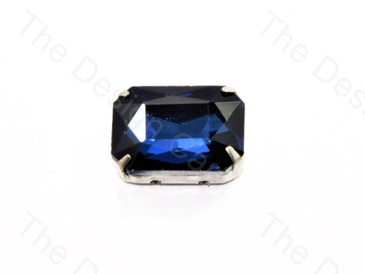 Dark Blue Rectangle Glass Stone With Catcher